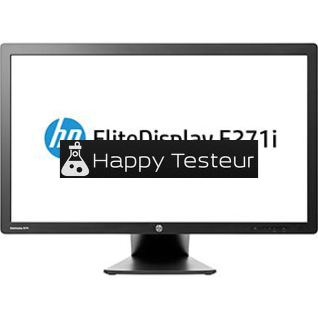 test HP EliteDisplay E271i